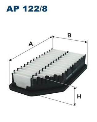Купить запчасть FILTRON - AP122/8 Воздушный фильтр