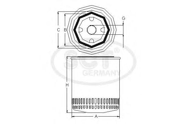 Купить запчасть SCT Germany - SM 143 Масляный фильтр